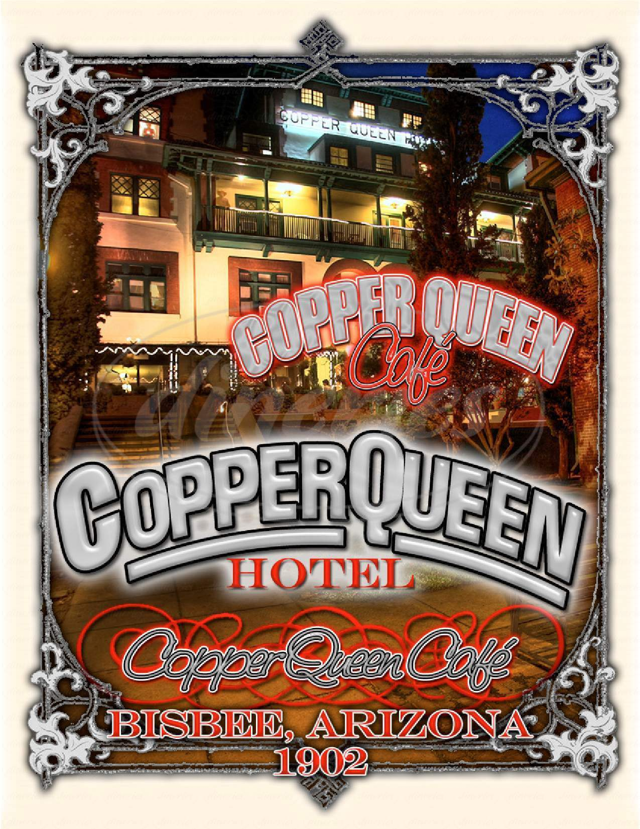 menu for Copper Queen Hotel