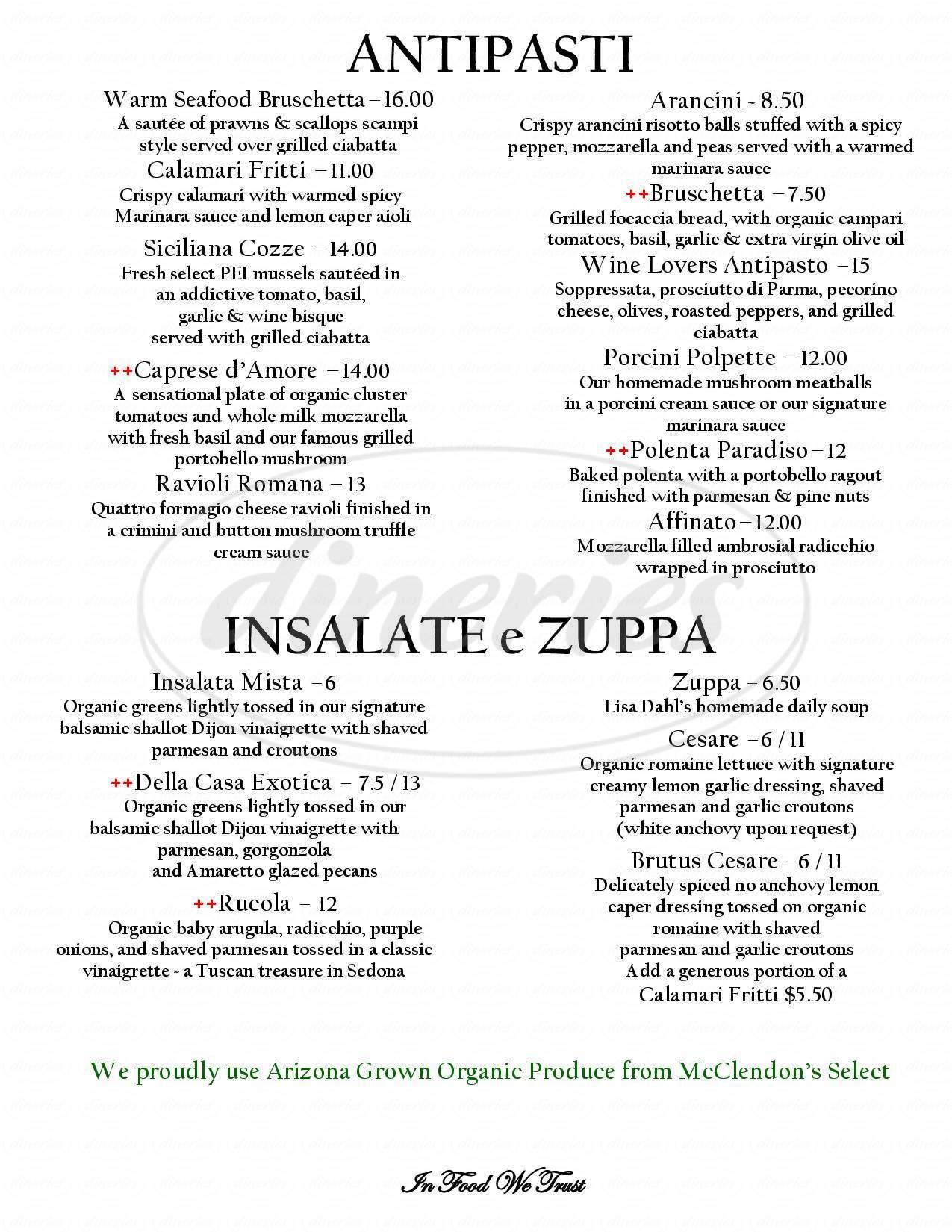 menu for Dahl & Di Luca Ristorante Italiano