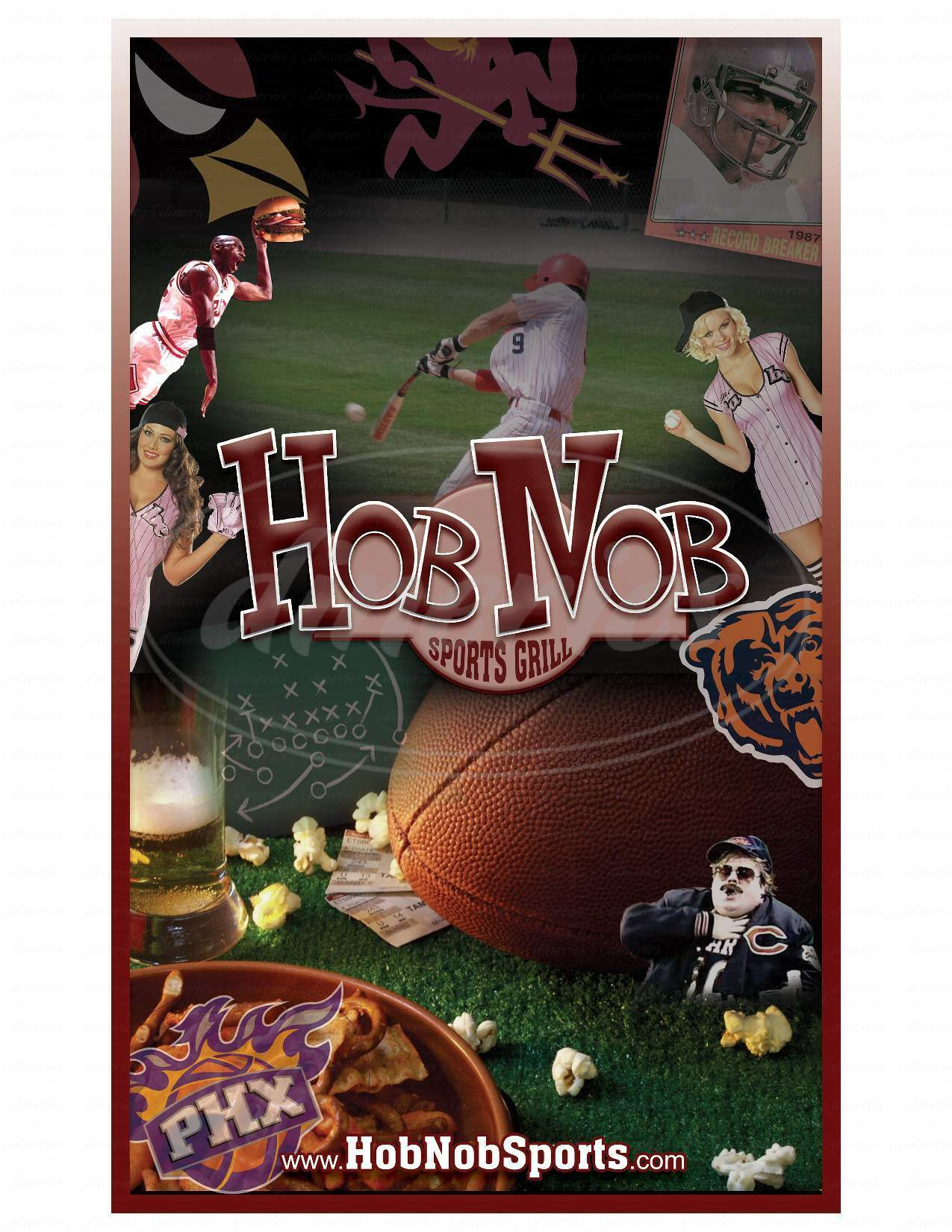 menu for Hob Nob Sports Grill