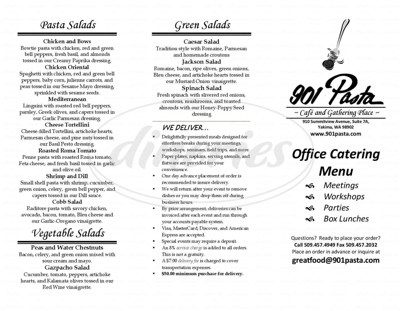 menu for 901 Pasta