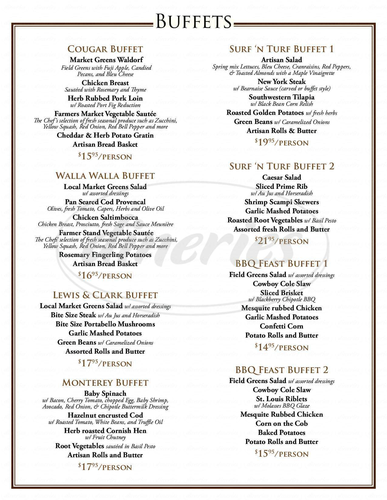 menu for Main Street Grill