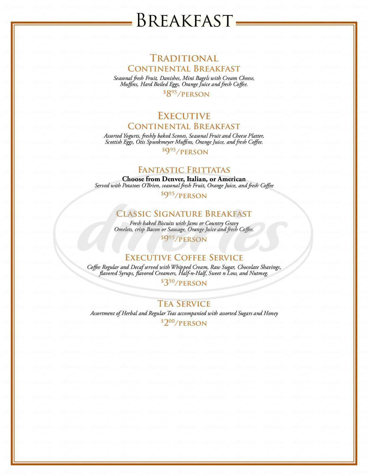 menu for Main Street Grill