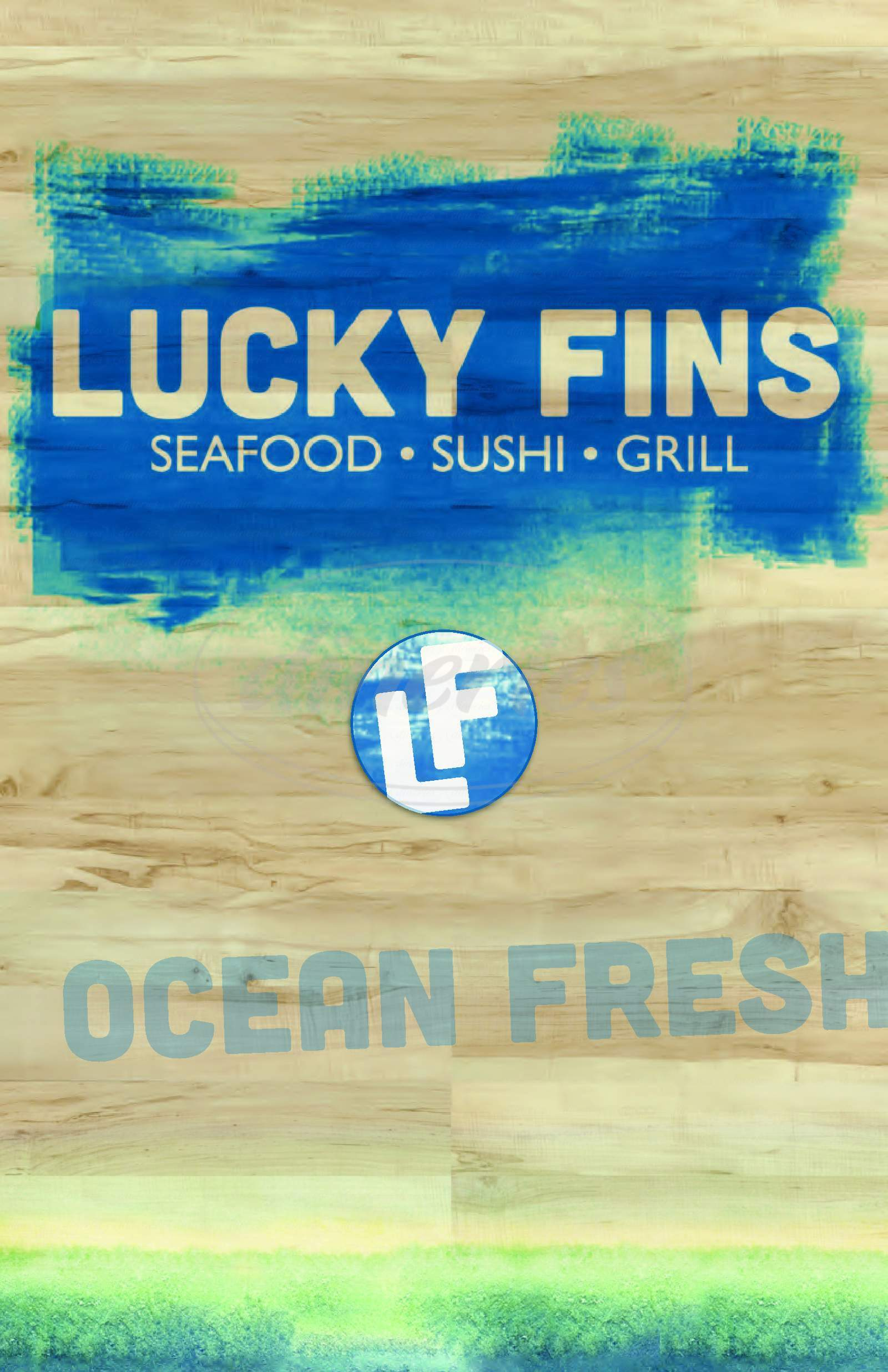 menu for Lucky Fins Seafood Grill