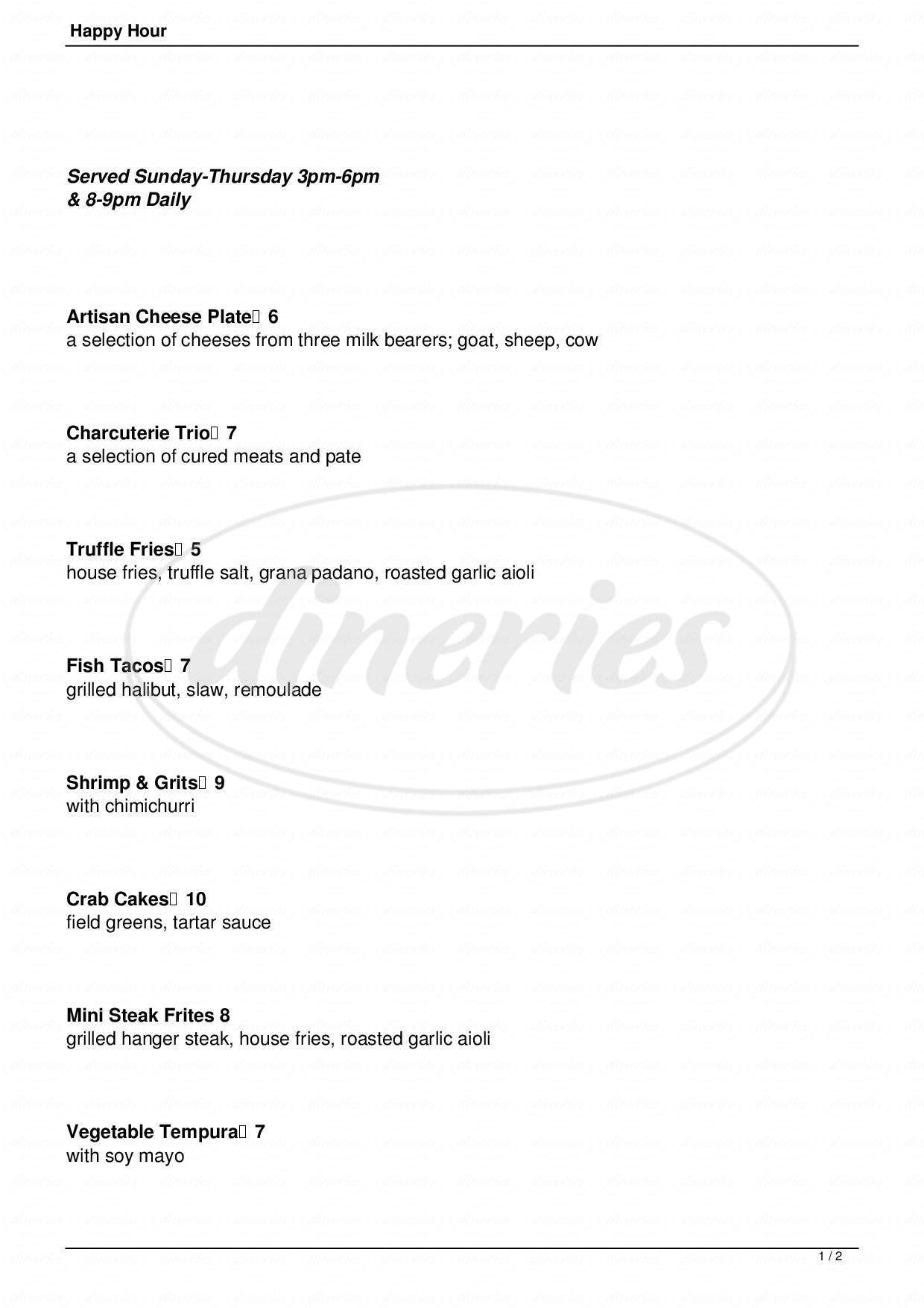 menu for Marco's Cafe & Espresso Bar