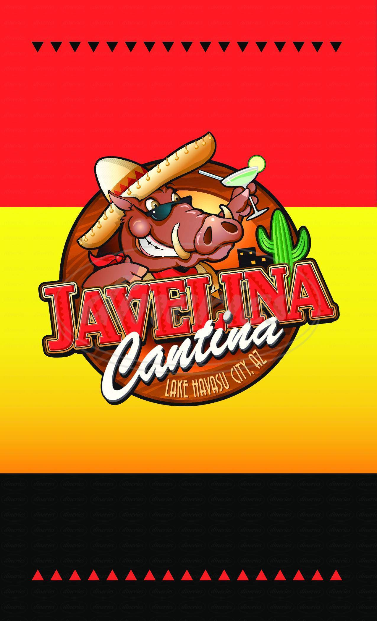 menu for Javalina Cantina