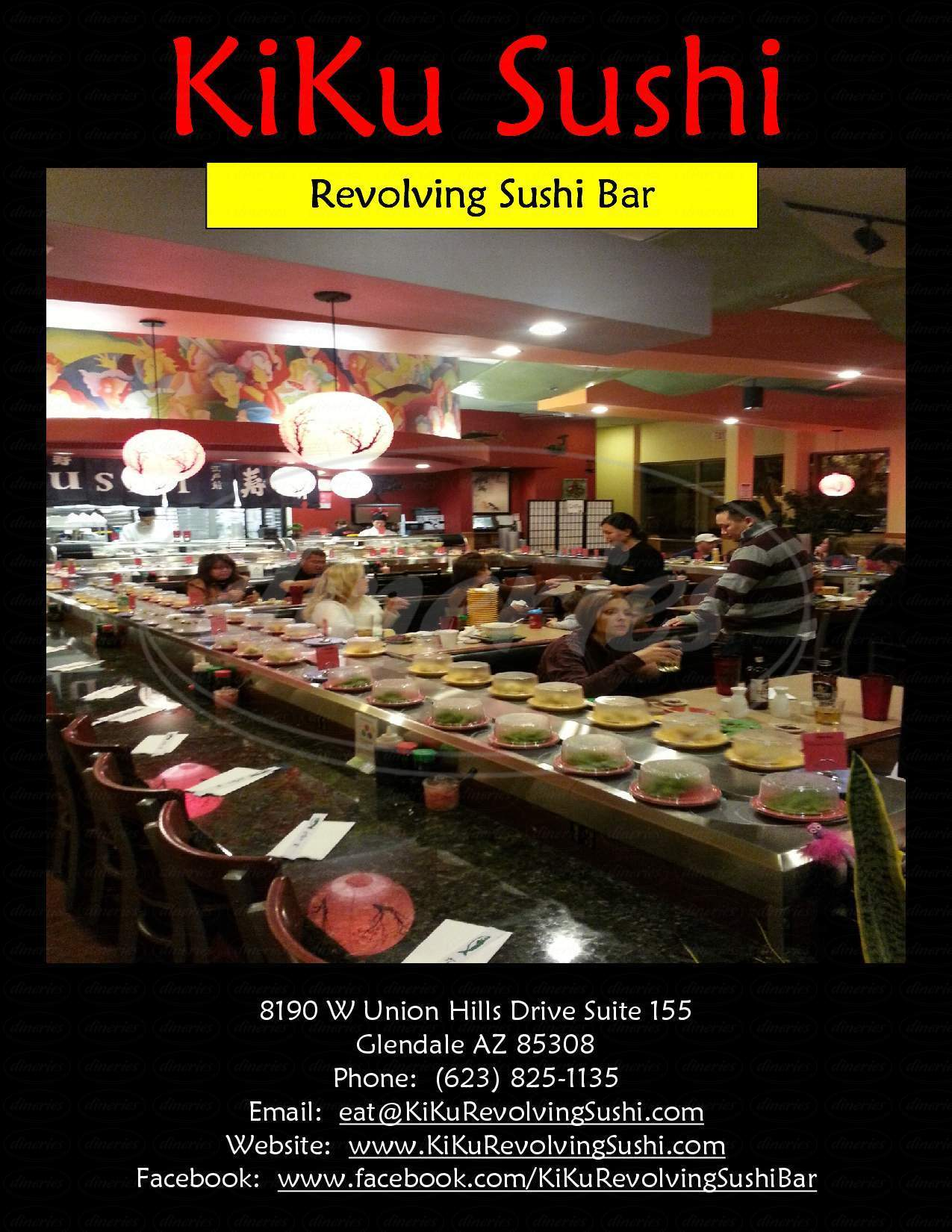 menu for KiKu Revolving Sushi