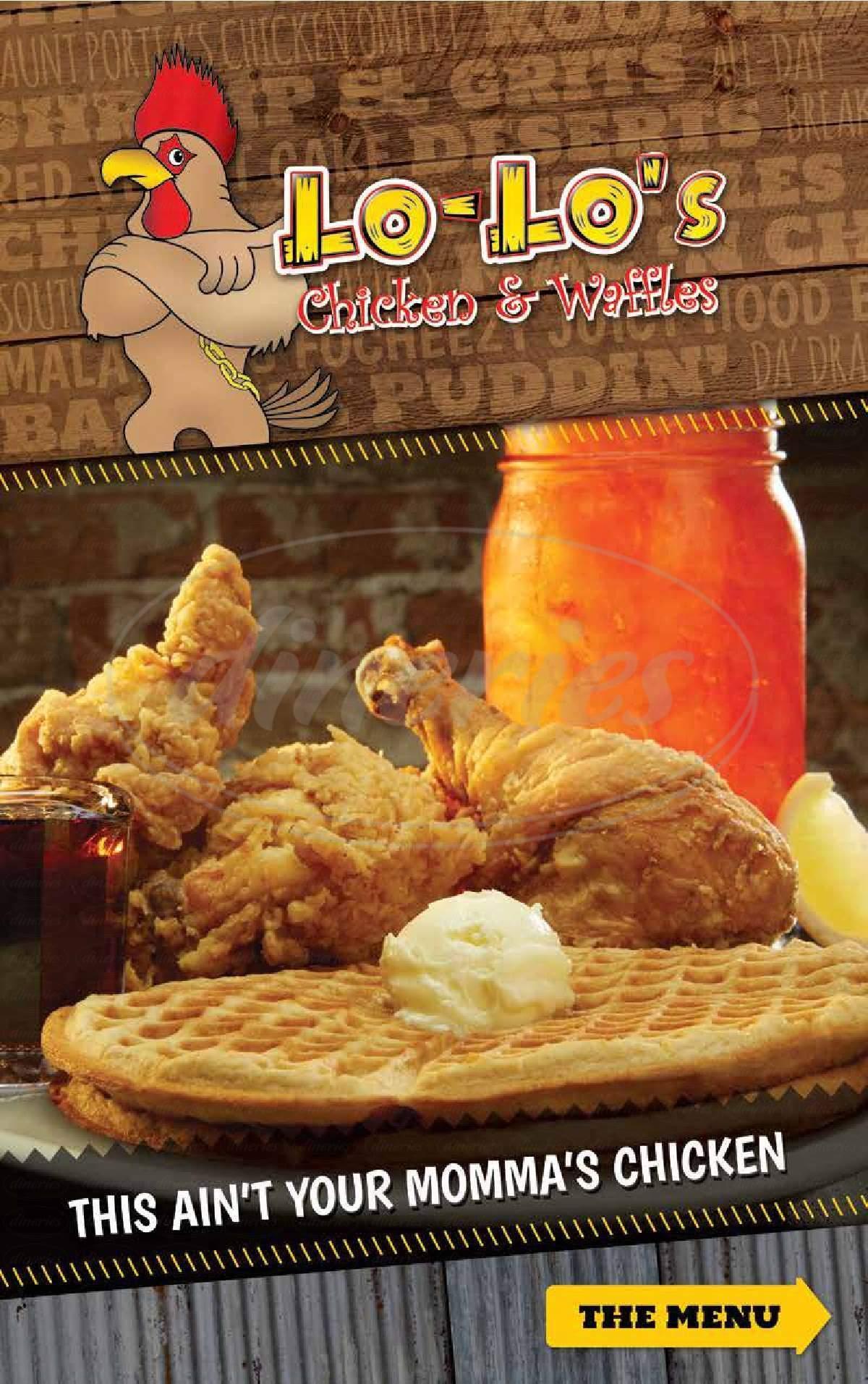 menu for Lo-Lo's Chicken & Waffles