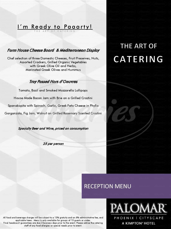 menu for Lustre Bar