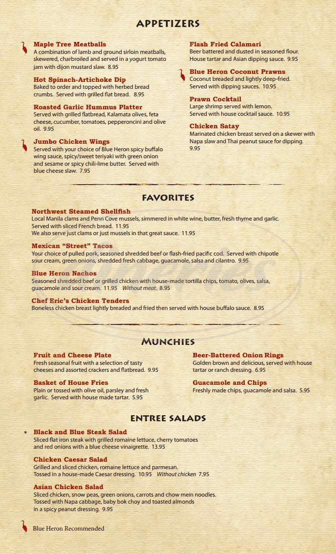 menu for Kat's Grill
