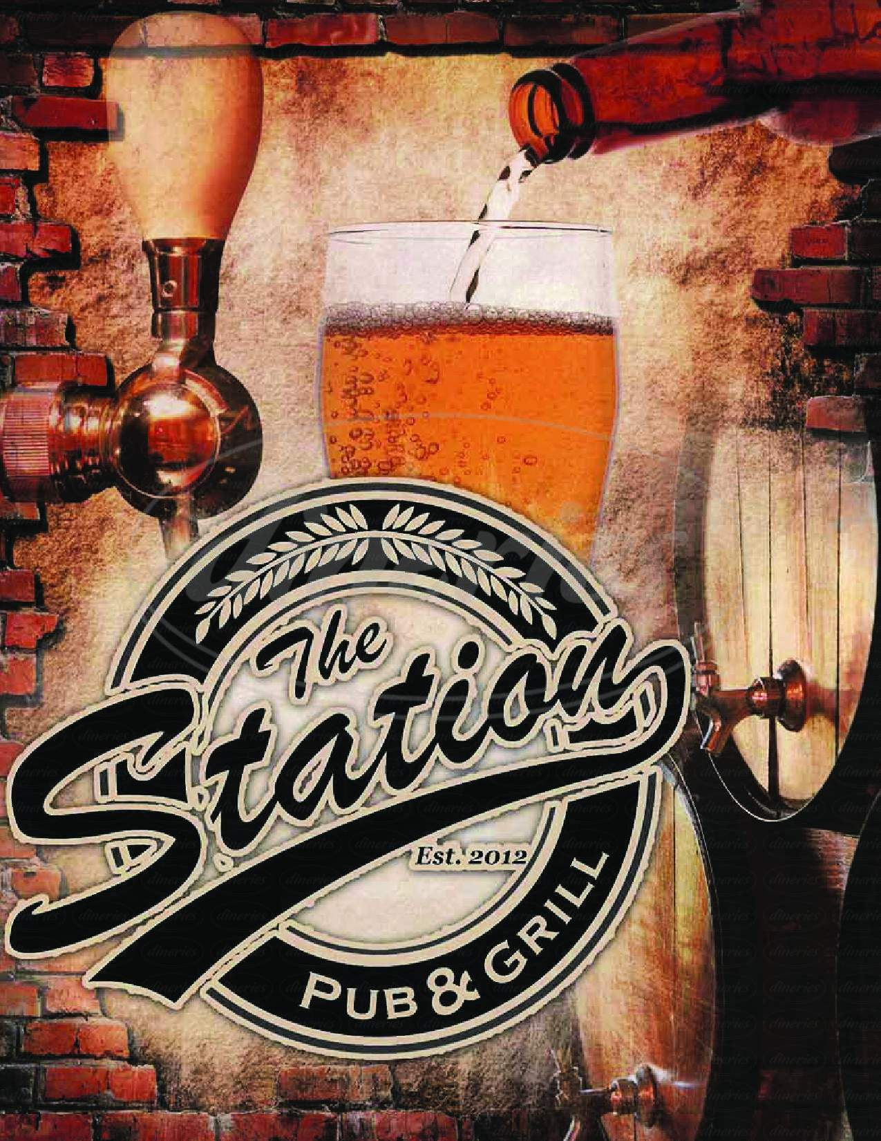 menu for The Station Pub & Grill