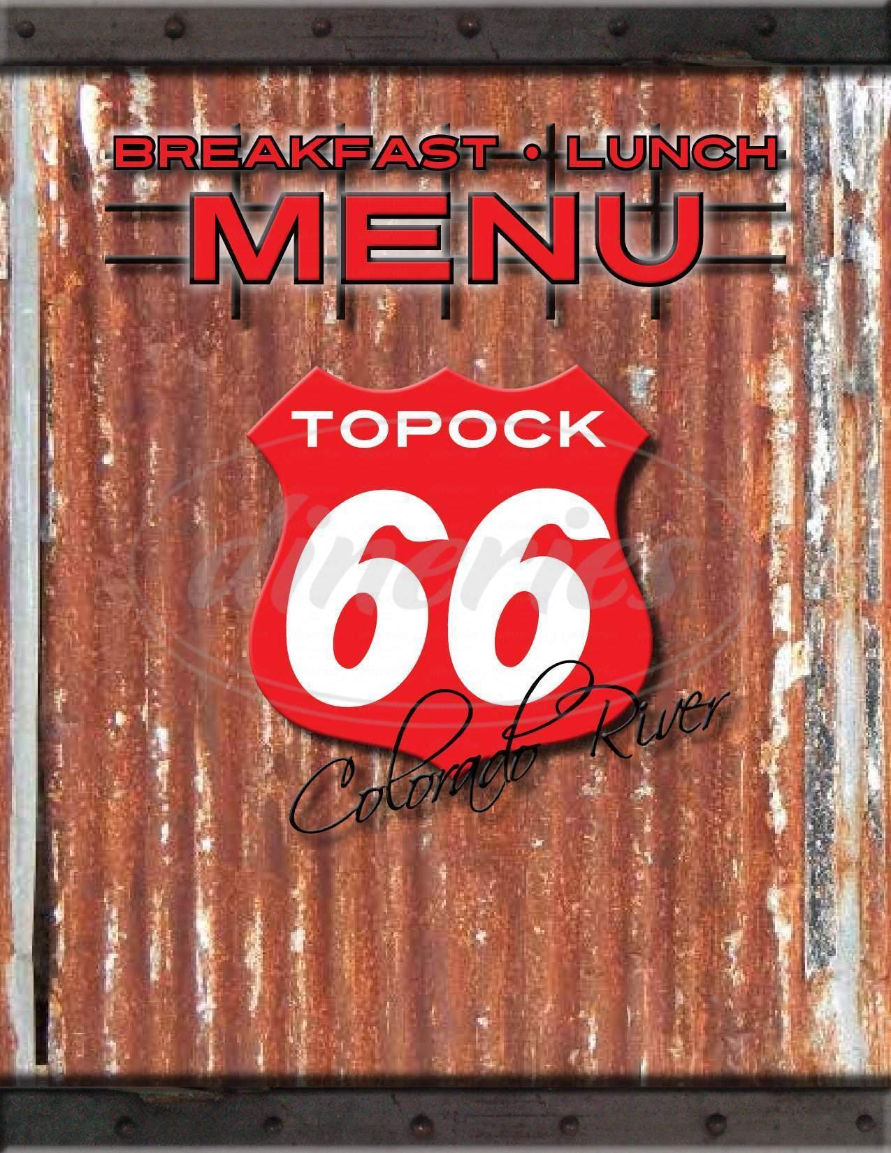 menu for Topock 66