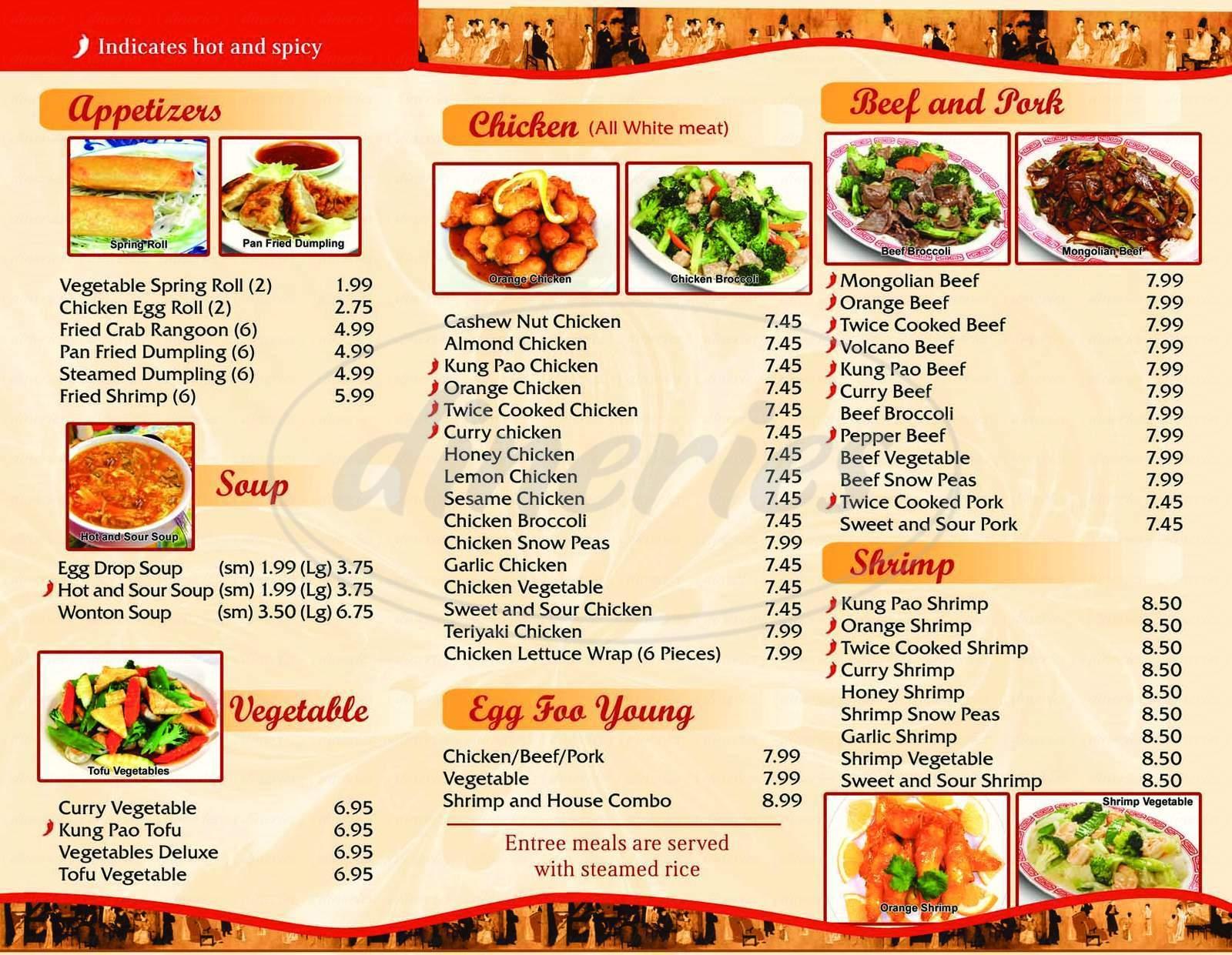 menu for Yan's Chinese Food #2