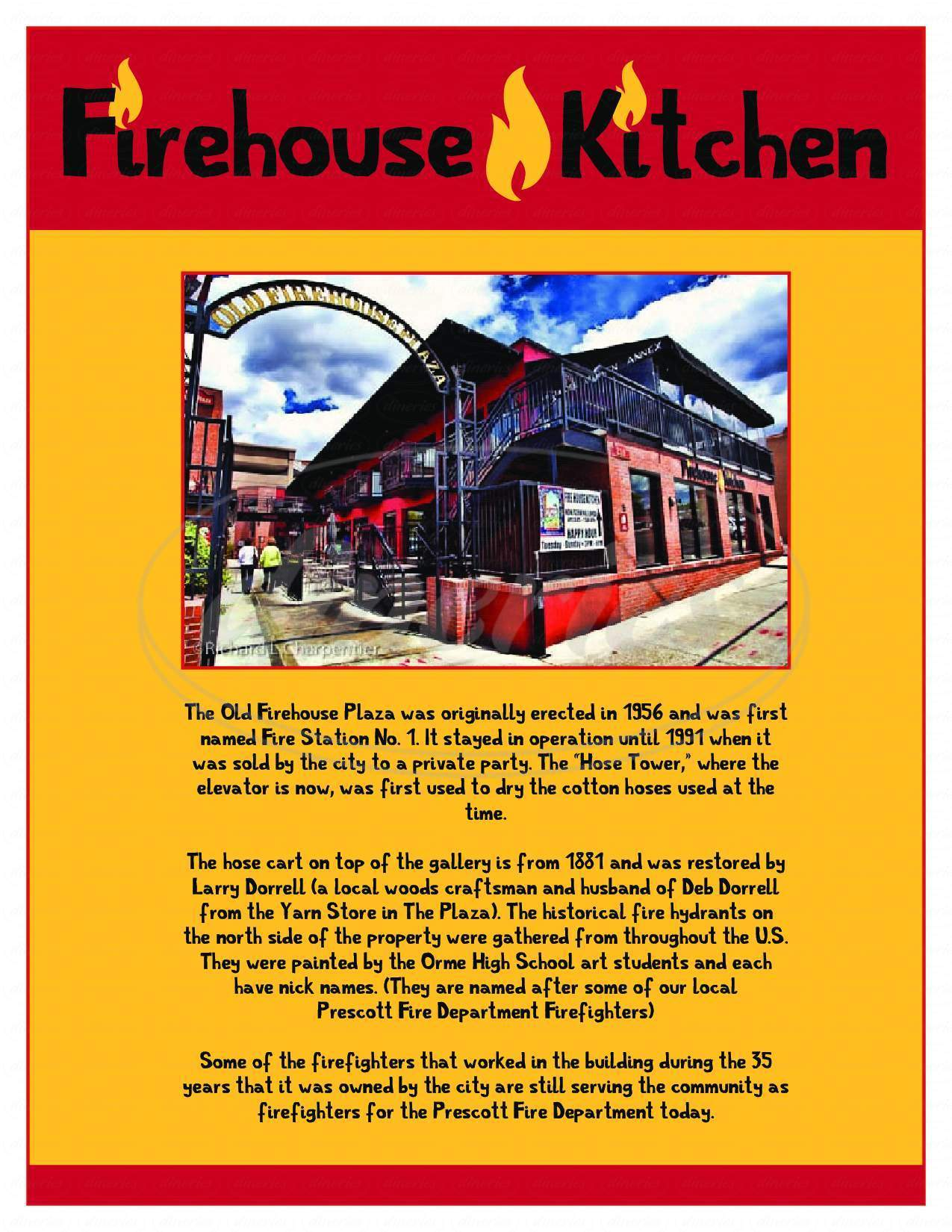 menu for Firehouse Kitchen