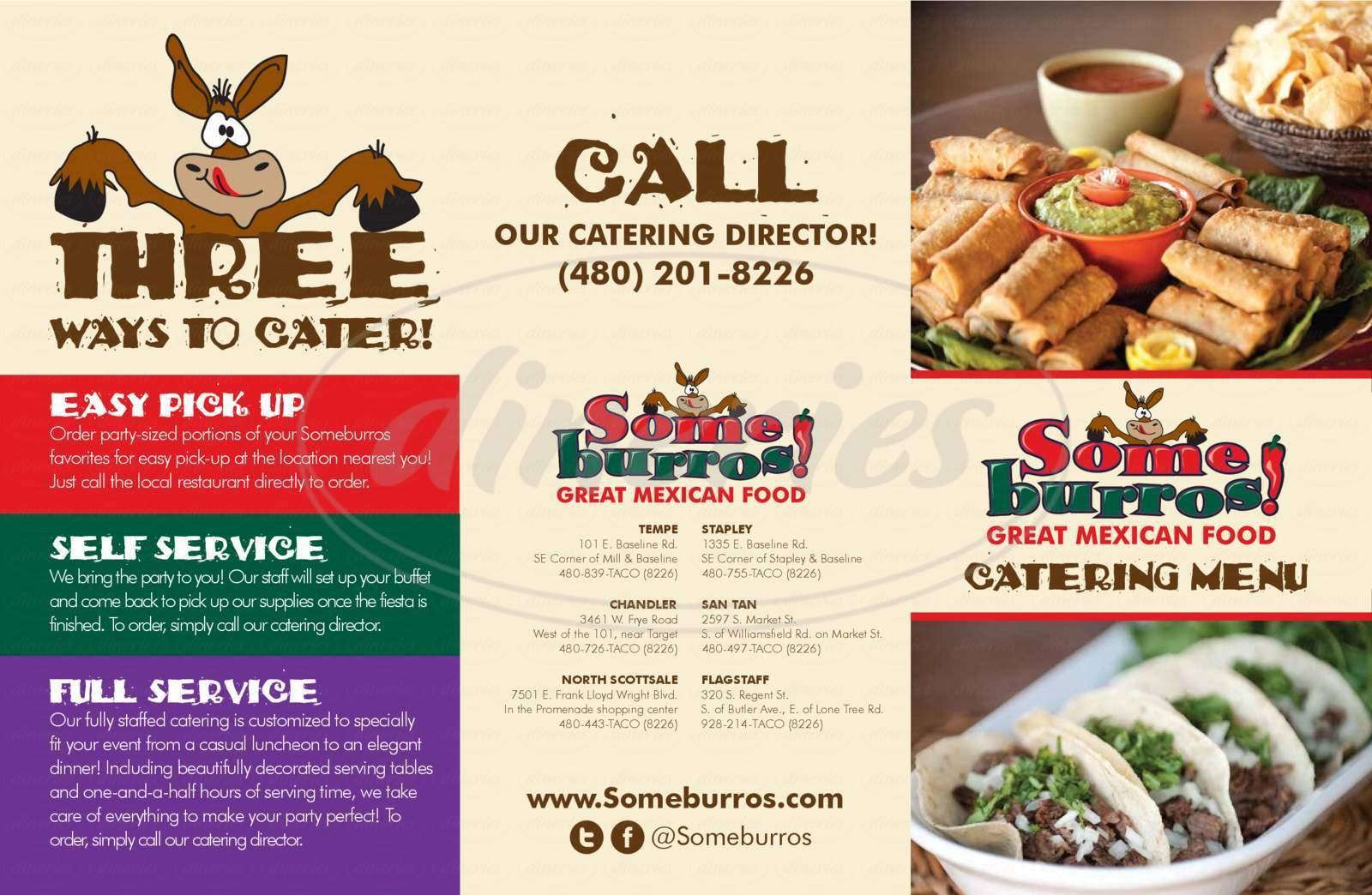 menu for Some Burros