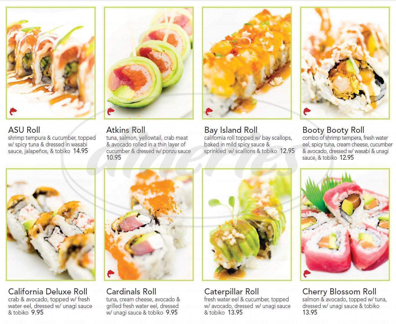 menu for Sushi Eye