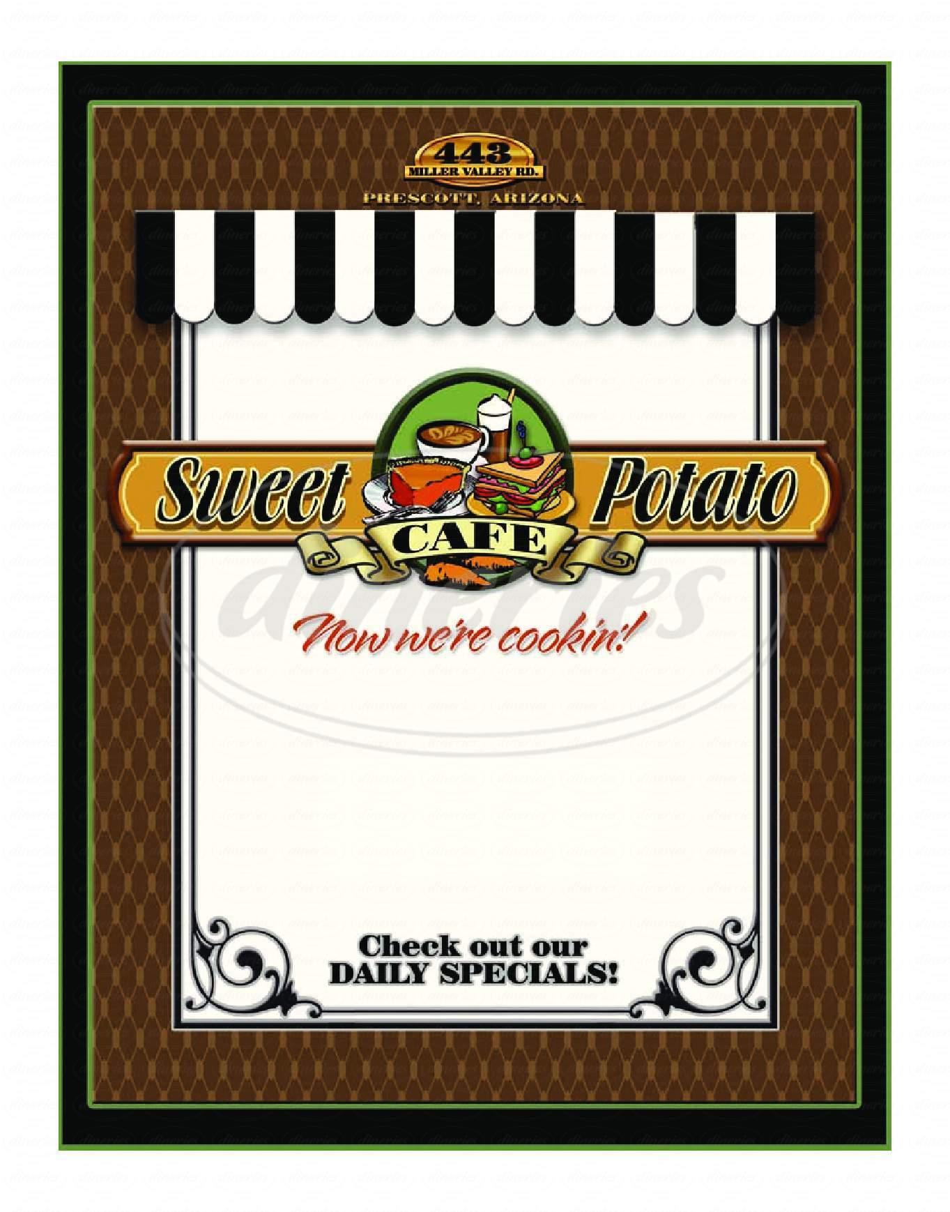 menu for Sweet Potato Cafe