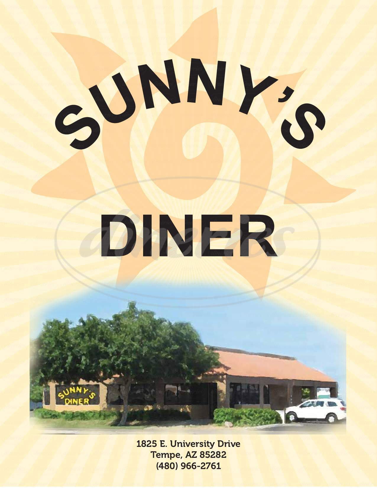 menu for Sunny's Diner