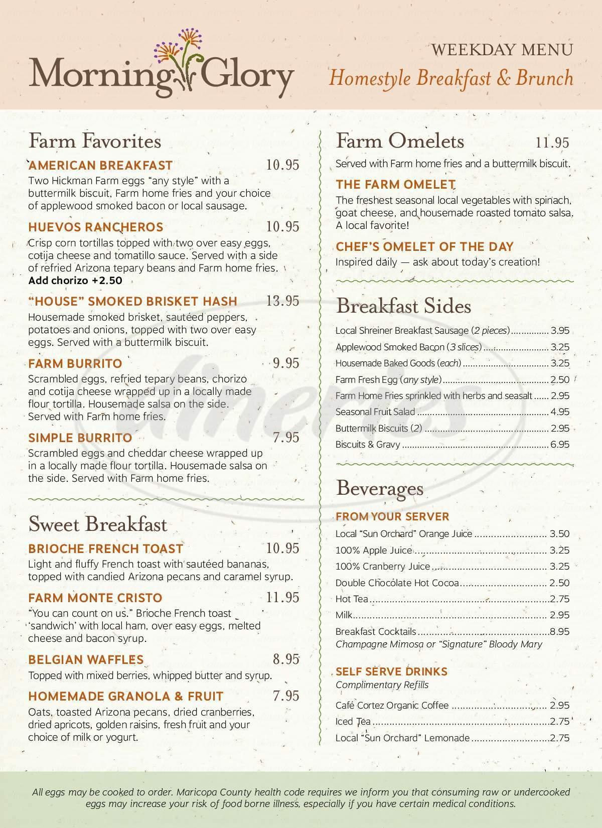 menu for Farm At South Mountain