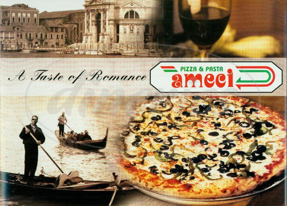 menu for Ameci Pizza and Pasta