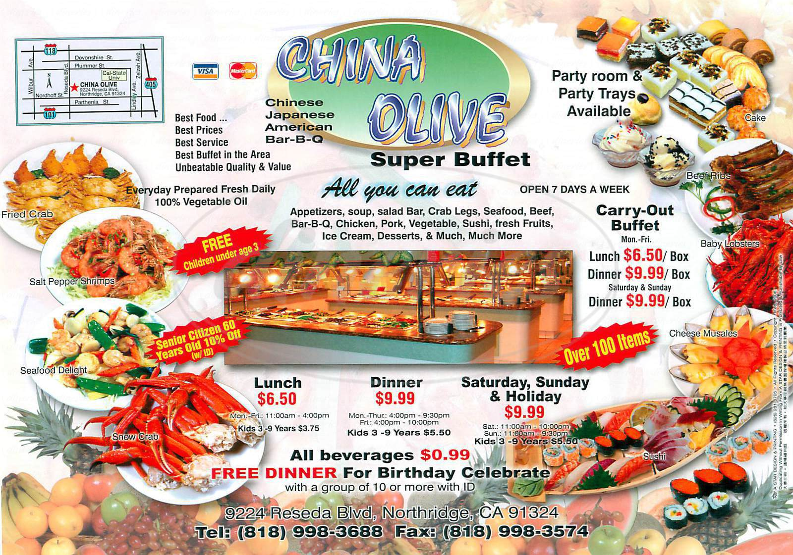 menu for China Olive