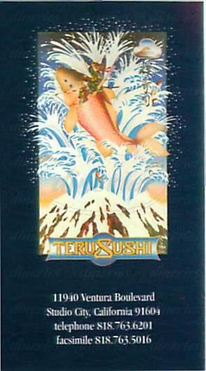 menu for Teru Sushi