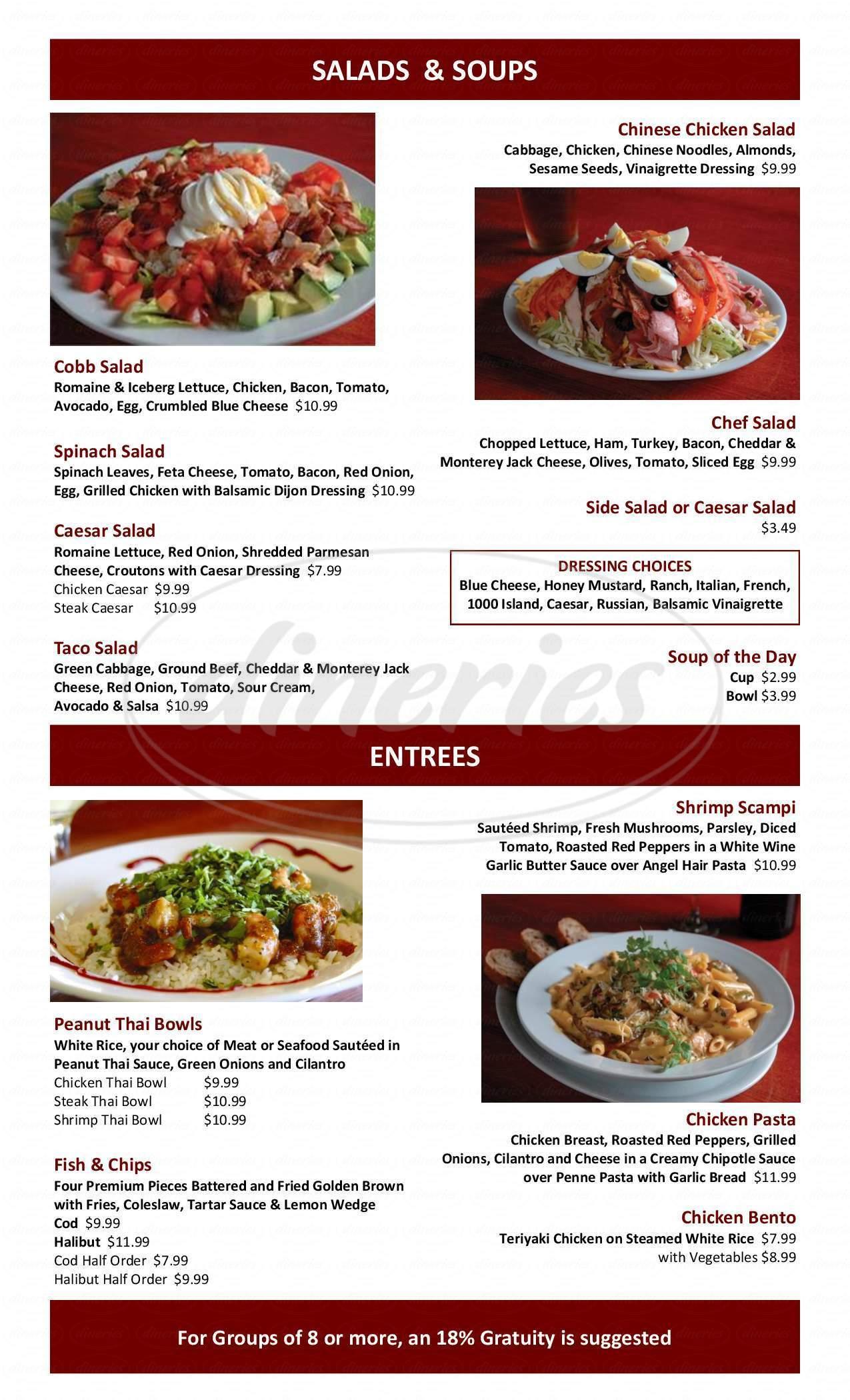 menu for Tualatin Island Grill