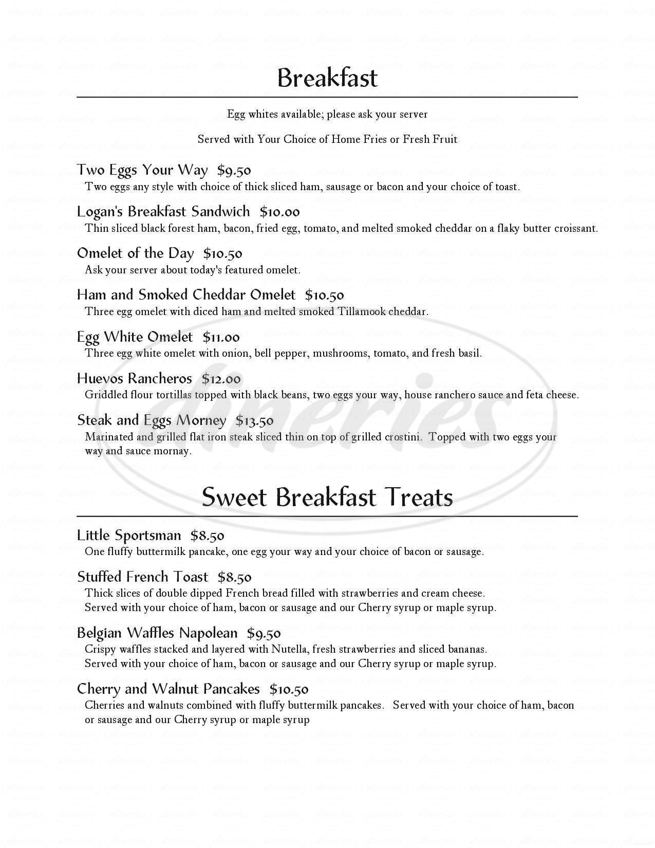 menu for The Grille At Grouse Mountain Lodge