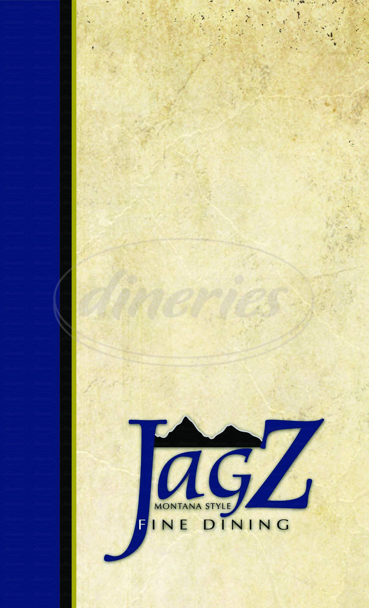 menu for Jagz