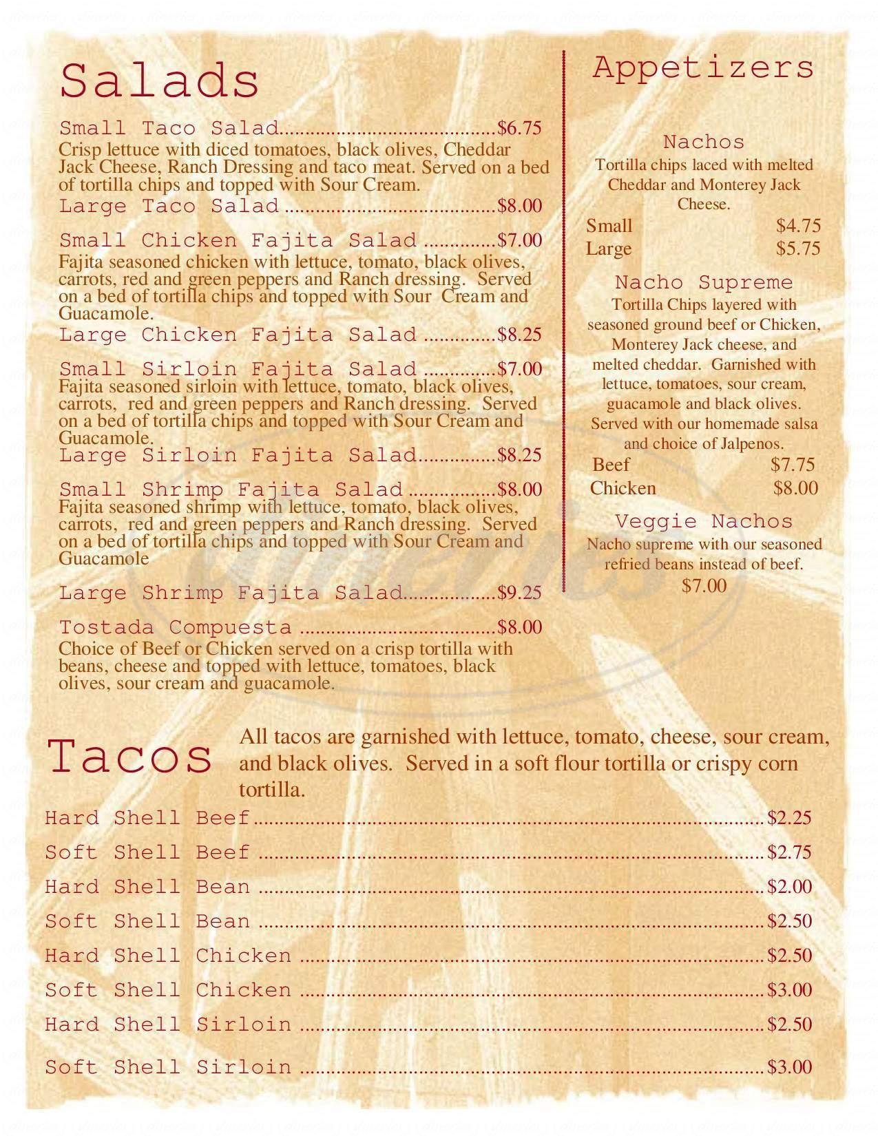 menu for Pourman's Cafe