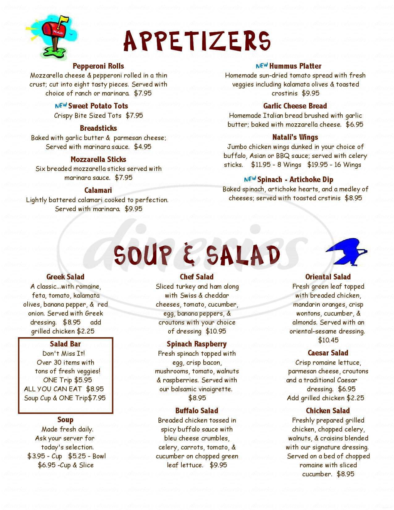 menu for Red Lodge Pizza Co