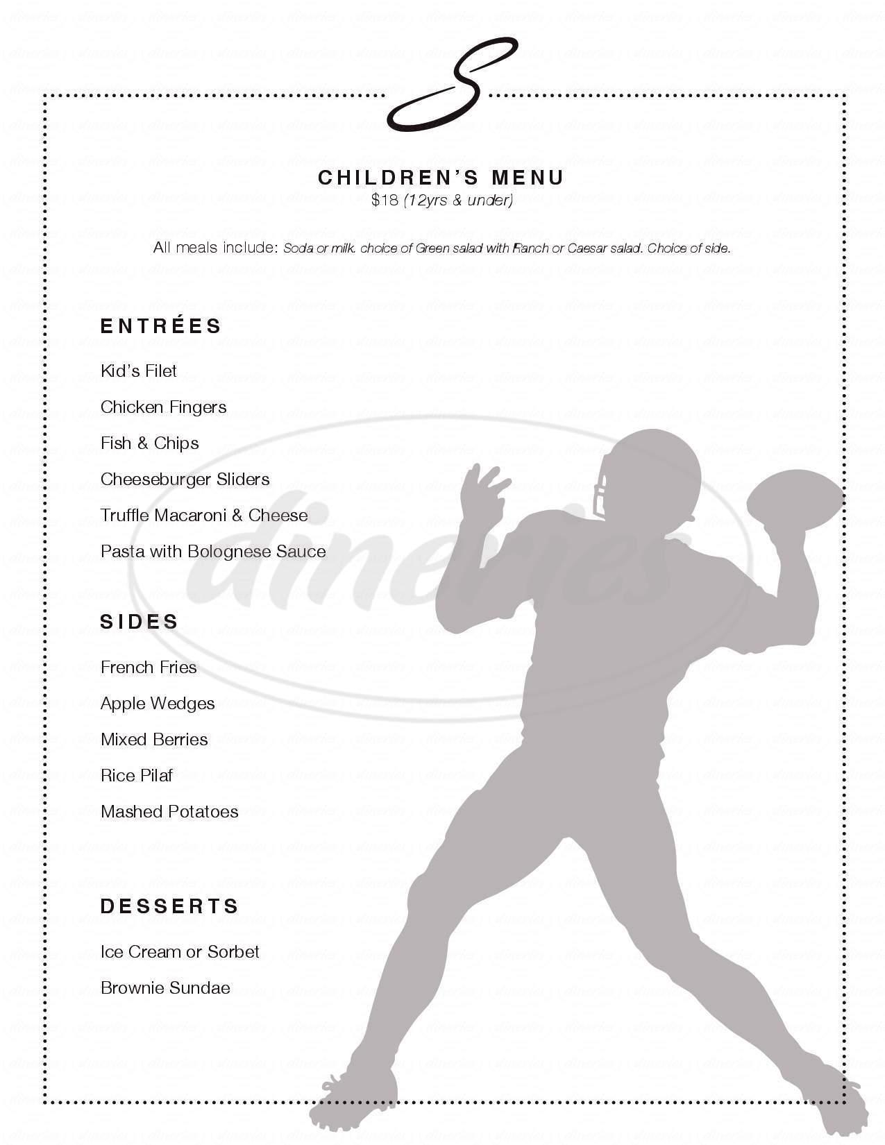 menu for Shanahan's Steakhouse