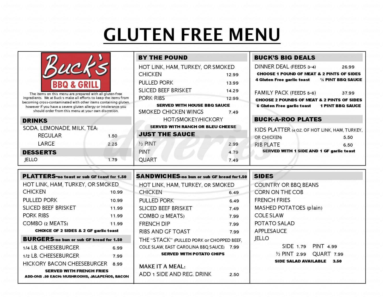 menu for The Rib BBQ