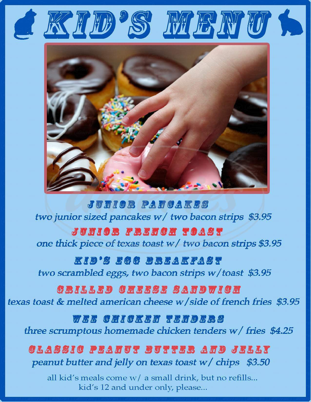 menu for Durango Doughworks