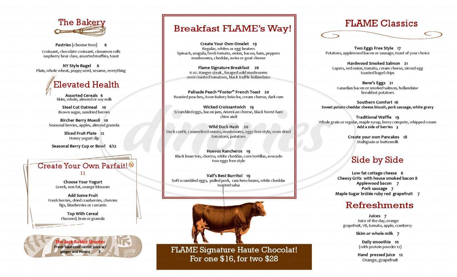 menu for Flame