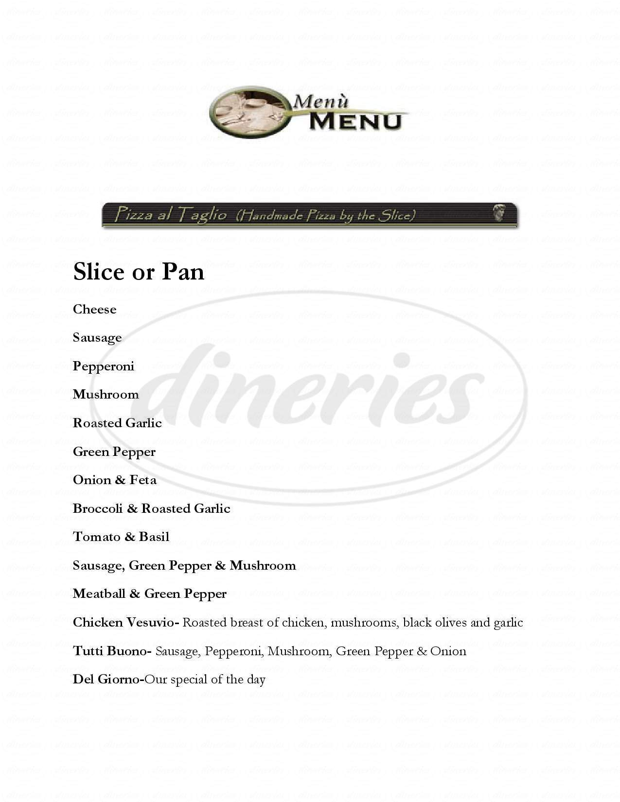 menu for Pizzeria Venti