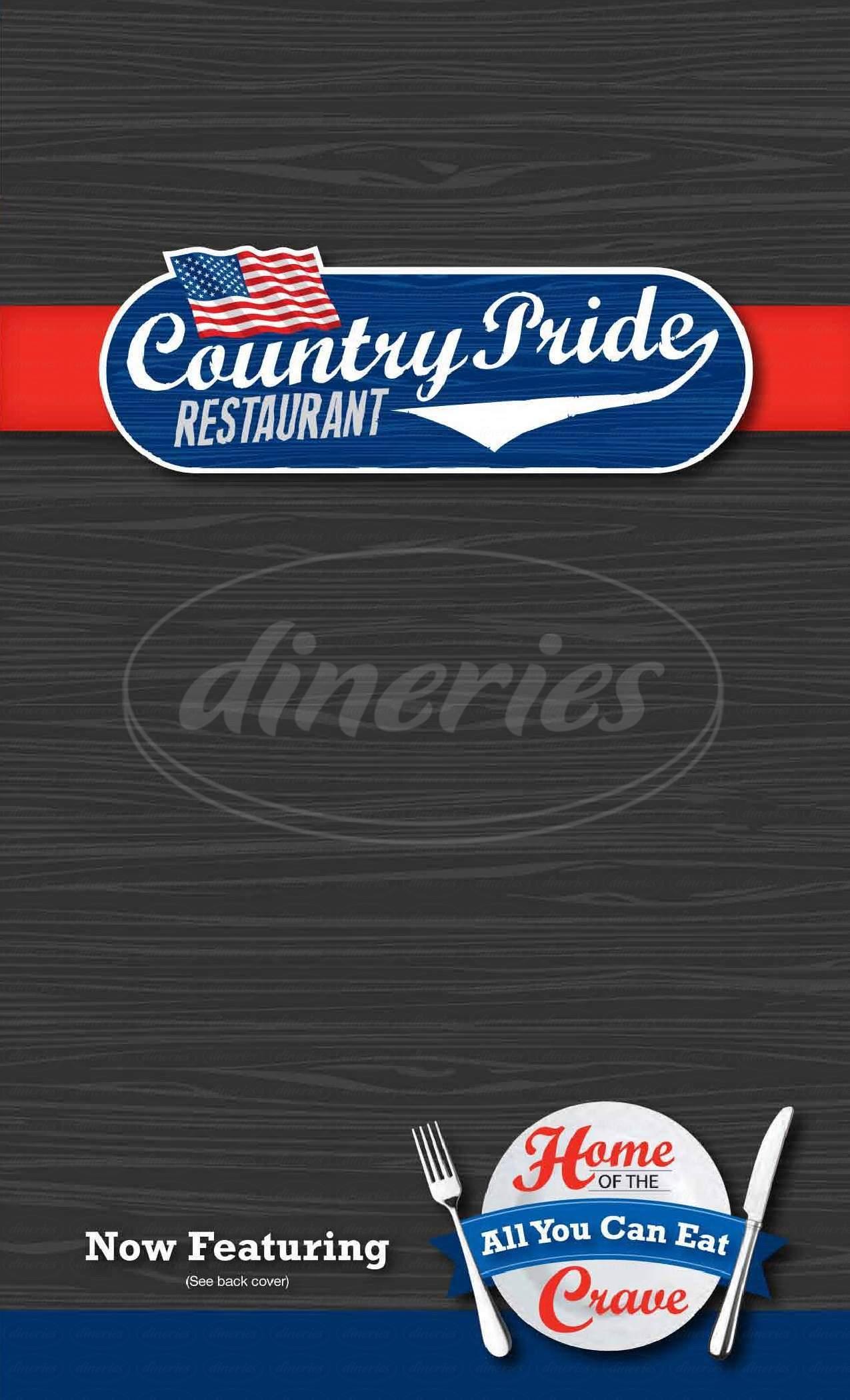 menu for Buck Horn Restaurant