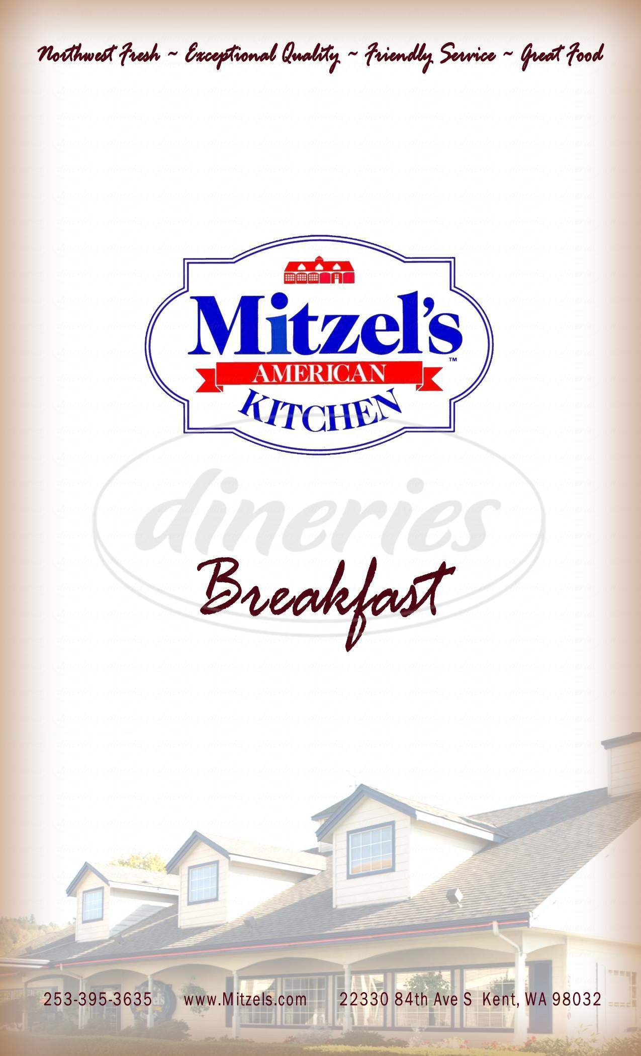 menu for Mitzel's American Kitchen