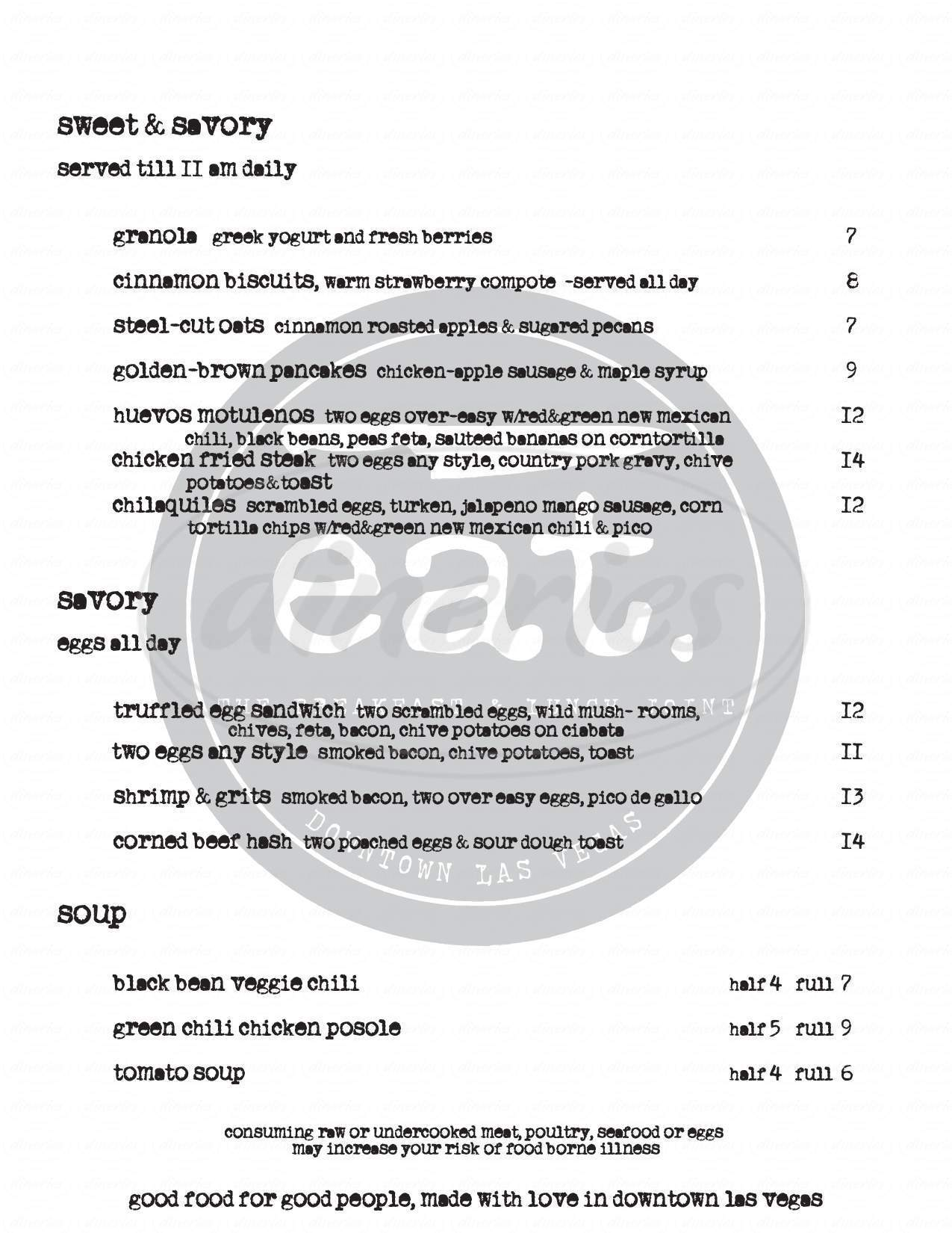 menu for eat.