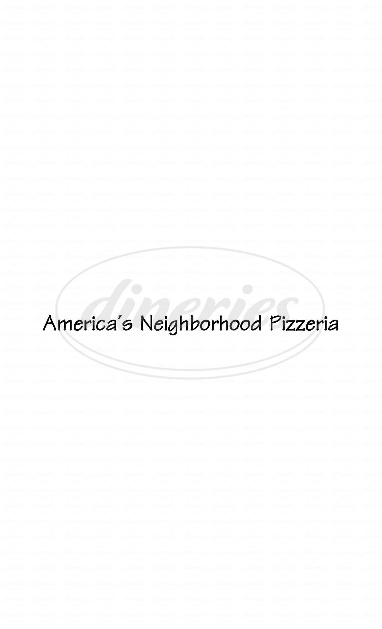 menu for Metro Pizza