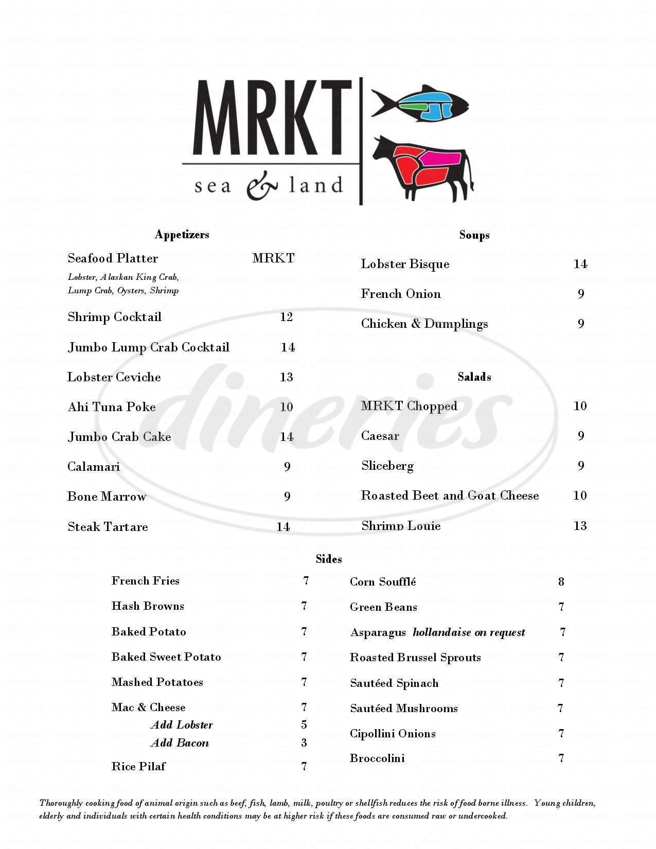 menu for MRKT
