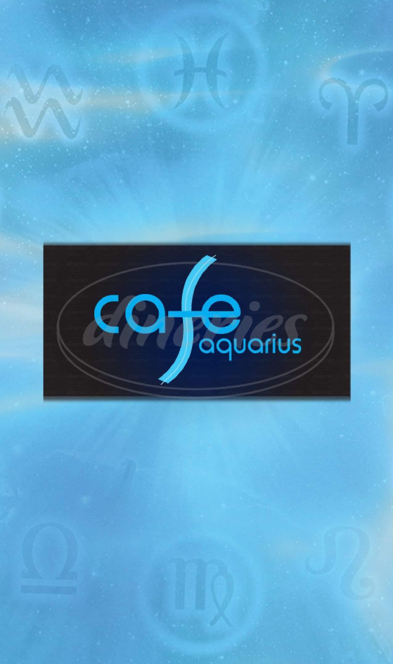 menu for Cafe Aquarius