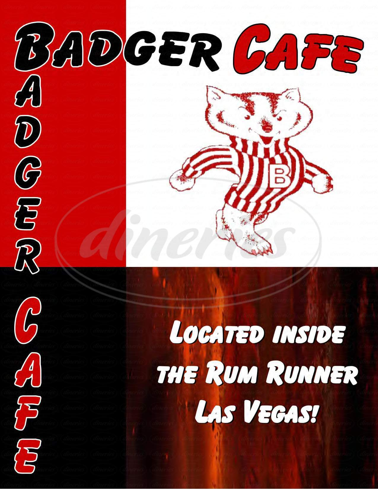 menu for Badger Cafe