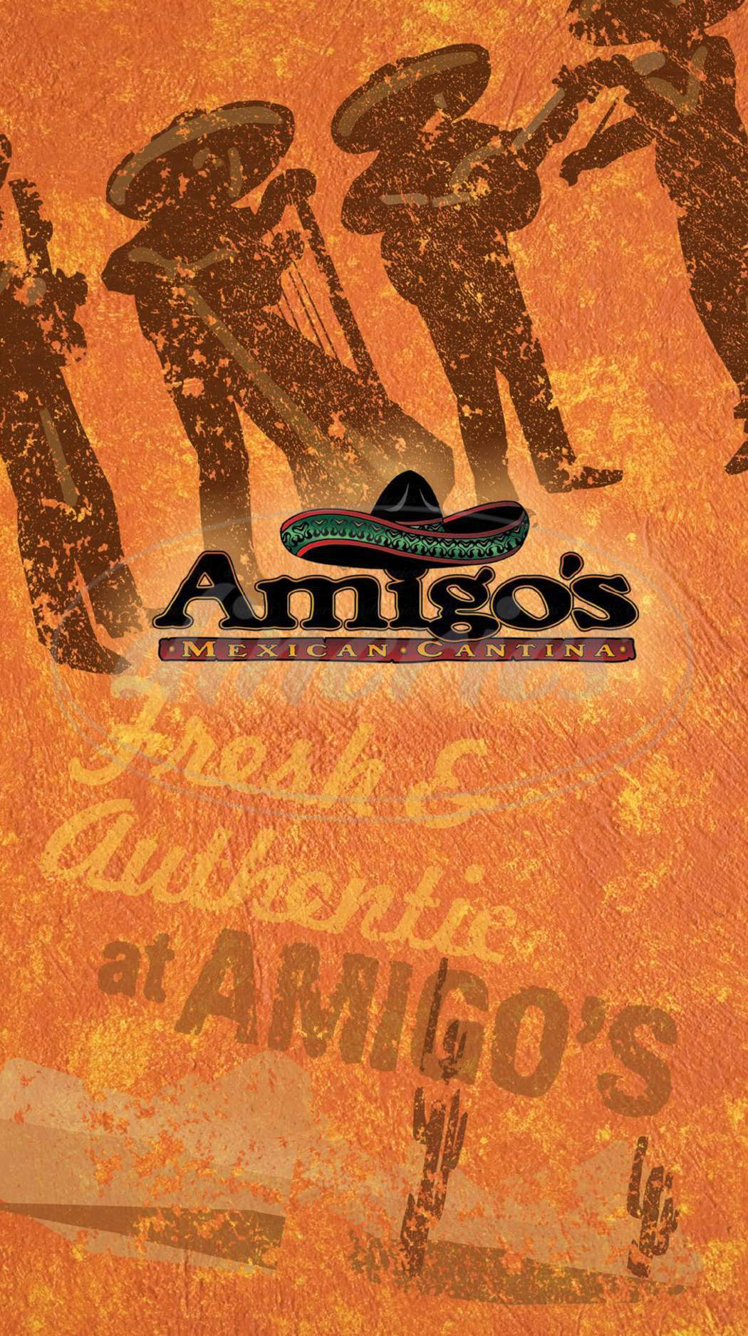 menu for Amigo's Mexican Cantina