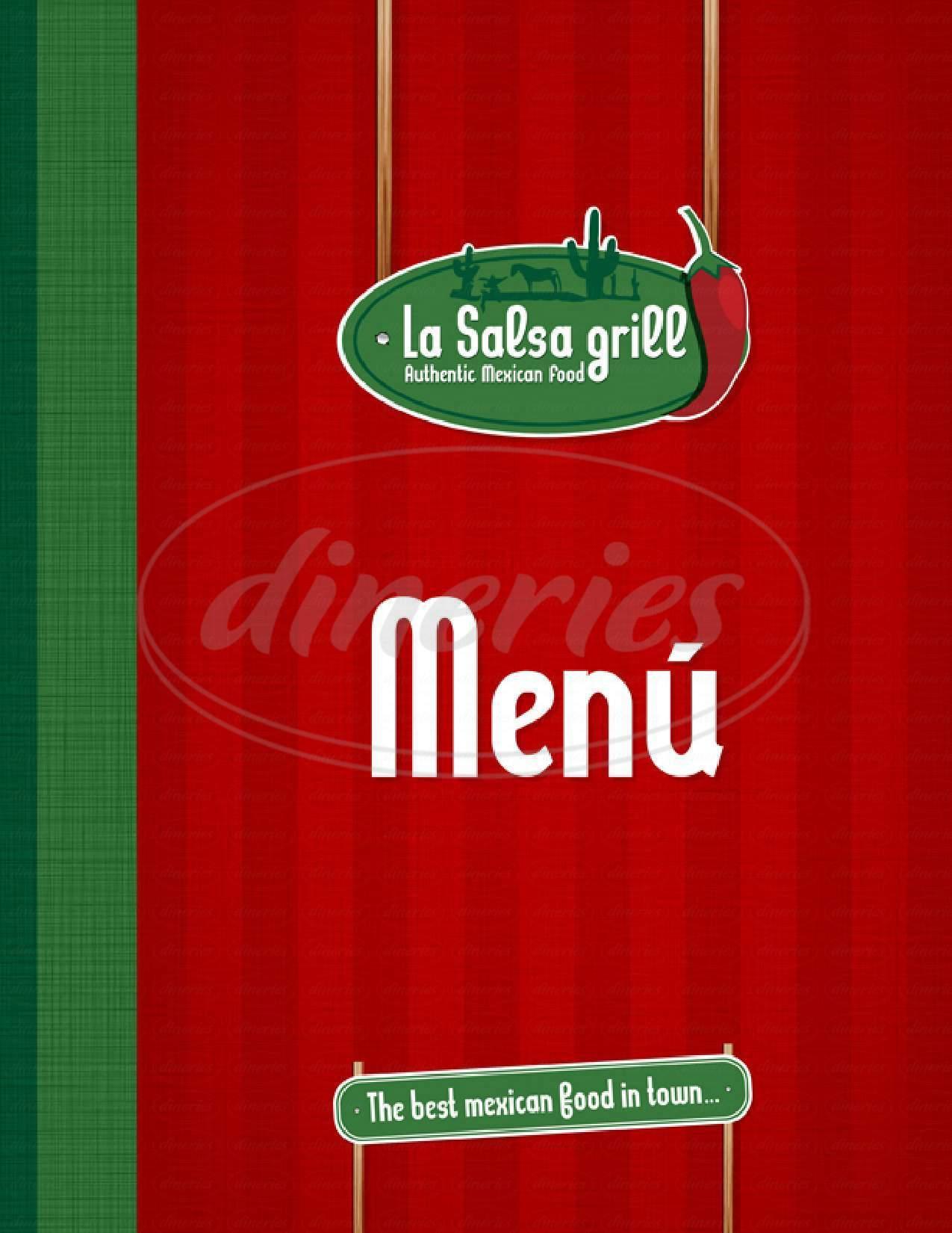 menu for La Salsa Grill