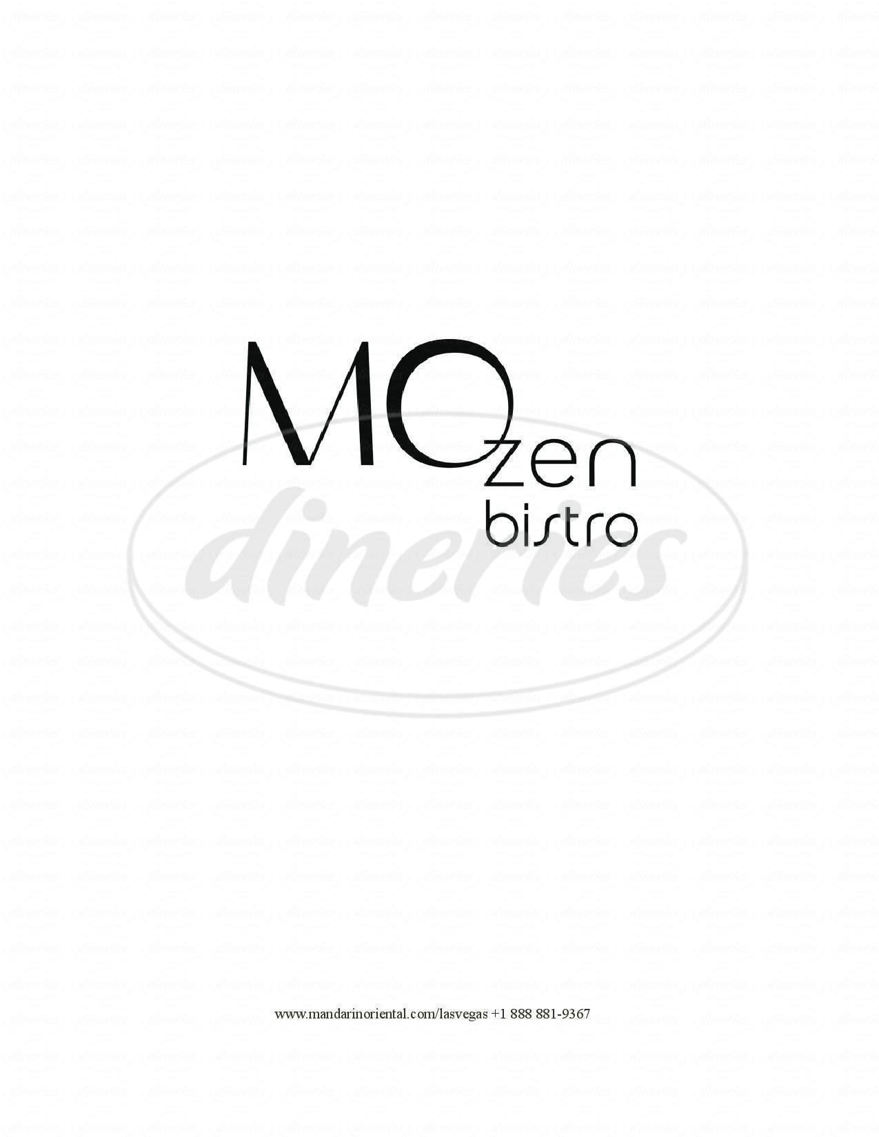 menu for Mozen Bistro
