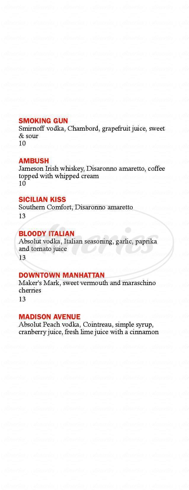 menu for Mob Bar
