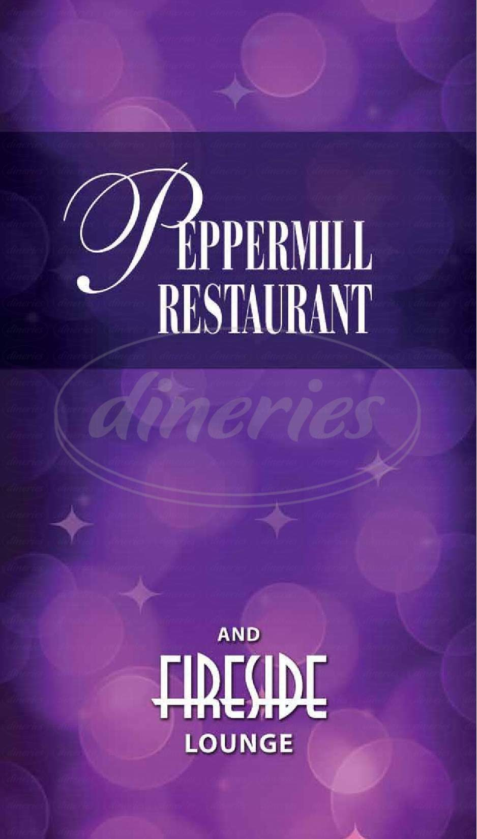menu for The Peppermill Restaurant & Fireside Lounge