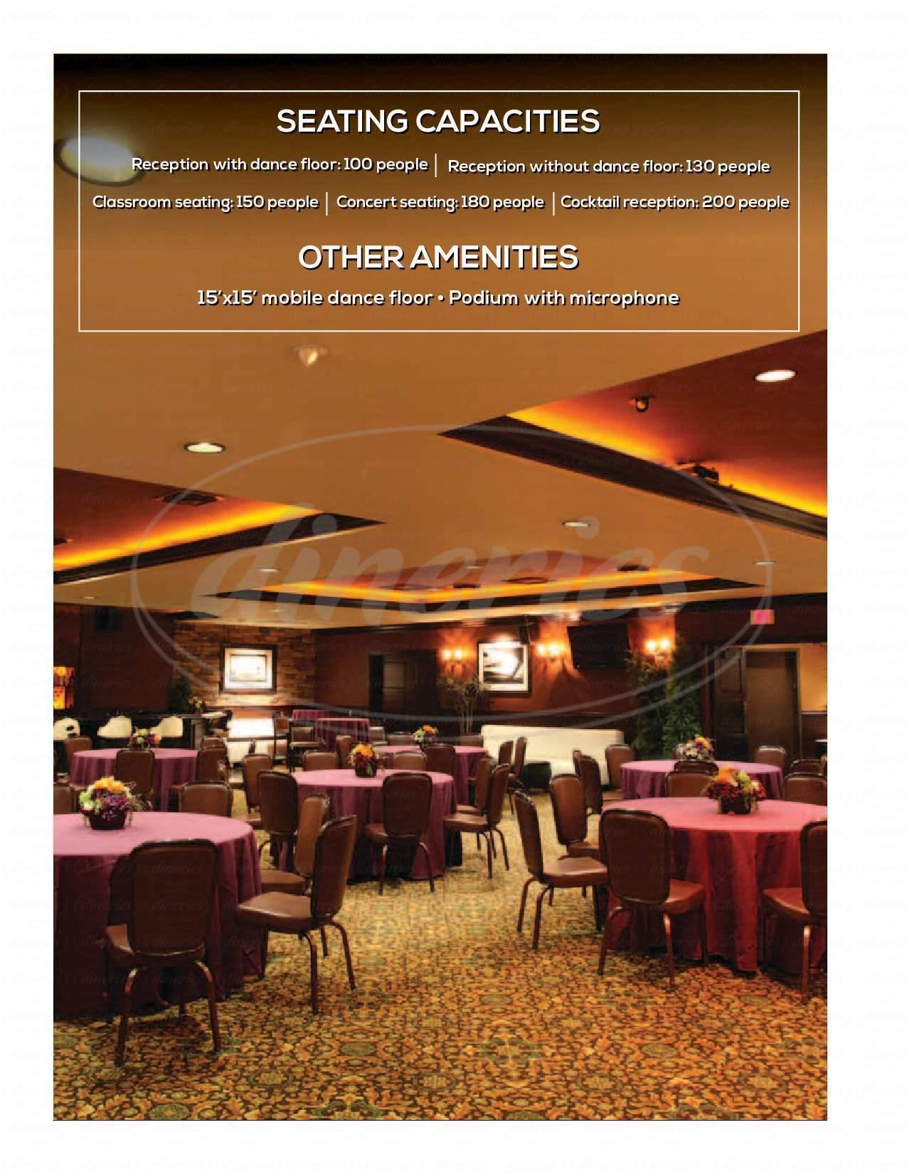 menu for Sierra Gold