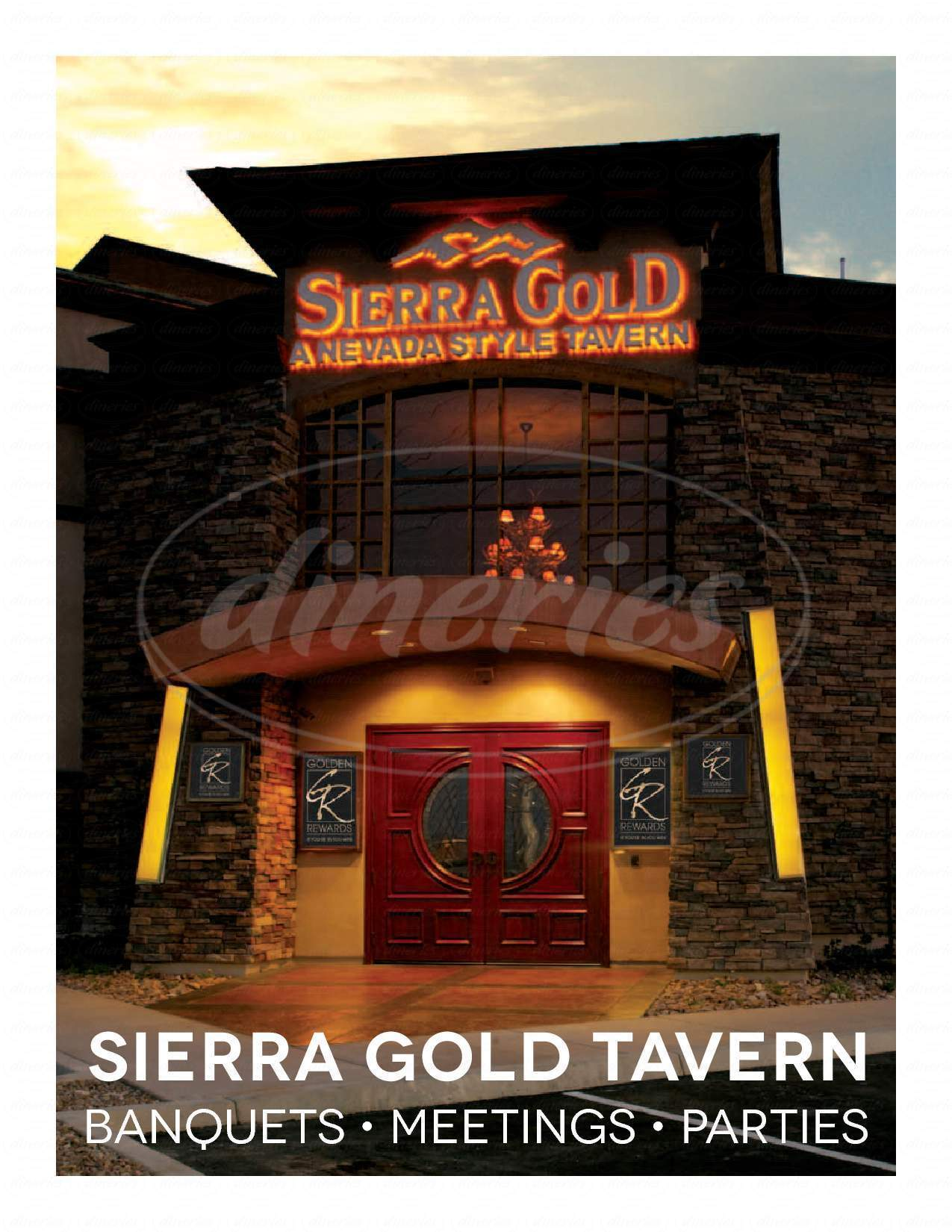 menu for Sierra Gold