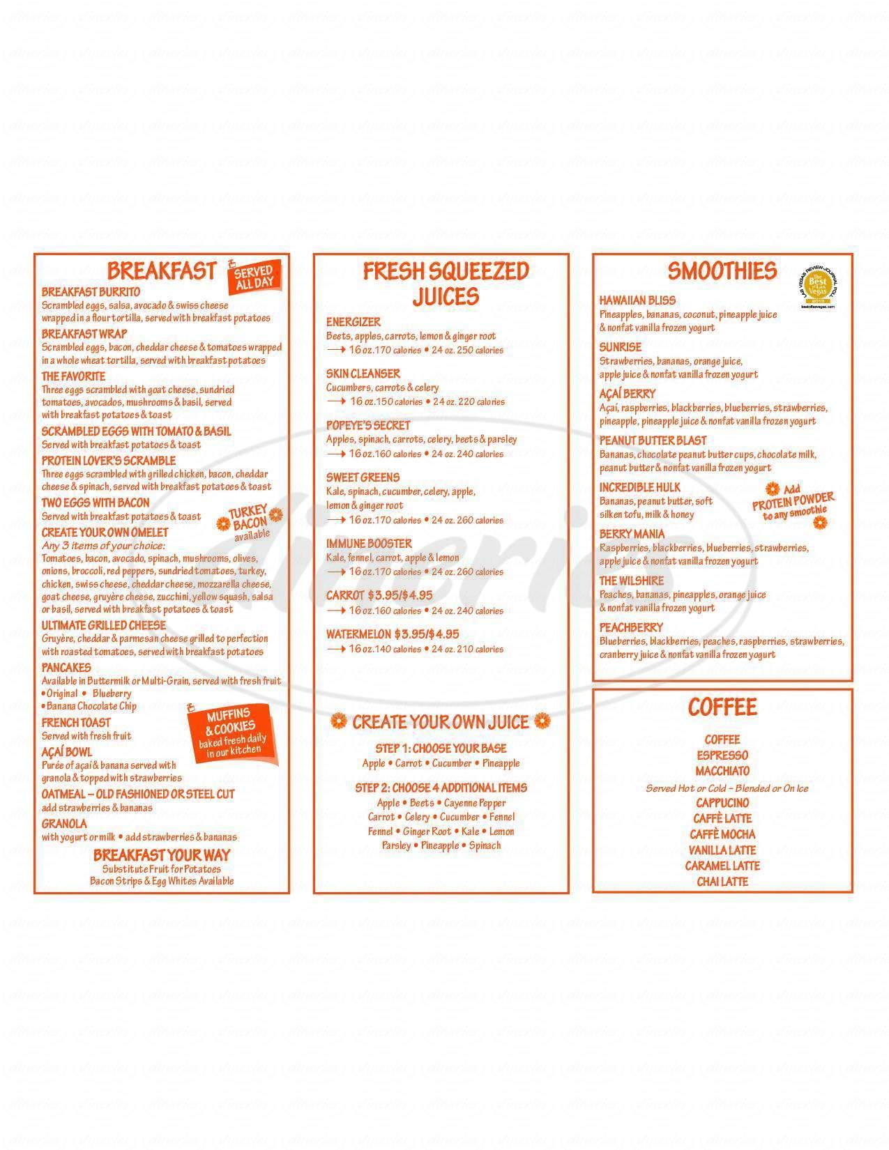 menu for Rachel's Kitchen